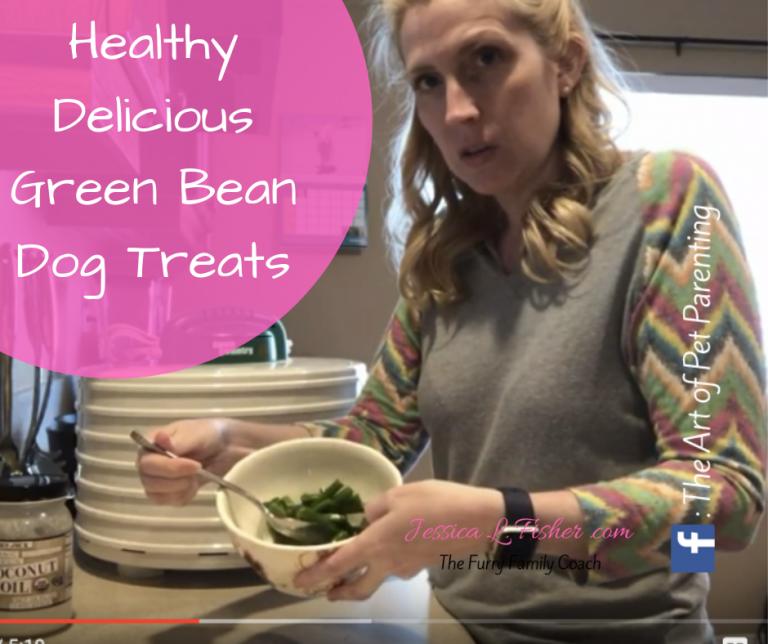 Healthy Delicious Green Bean Dog Treats