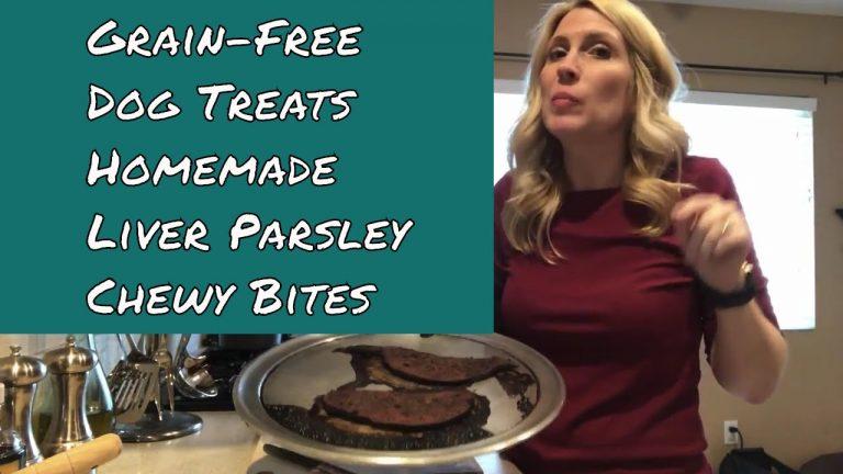 grain free dog treats liver parsley chews