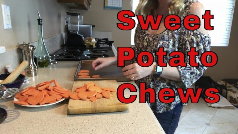 homemade dog treats sweet potato chews